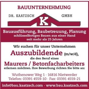 Bauunternehmung Dr. Kaatzsch GmbH
